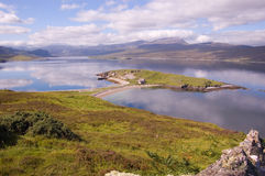 Loch Eriboll. Scenic view of cloudscape reflecting on Loch Eriboll, Highlands, Scotland stock image