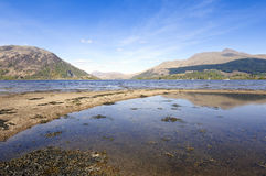 Loch Etive. View of Loch Etive and Ben Cruachan Argyll and Bute Scotland Royalty Free Stock Photography