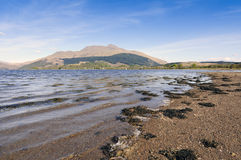 Loch Etive. View of Loch Etive and Ben Cruachan Argyll and Bute Scotland Royalty Free Stock Photos