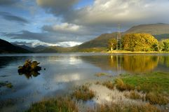 Loch Etive. Late evening view Loch Etive Scottish Highlands royalty free stock images