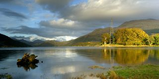 Loch Etive. Late evening view Loch Etive Scottish Highlands royalty free stock photos