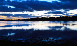 Loch Etive in twilight Royalty Free Stock Photography