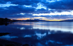 Loch Etive in twilight Stock Photos