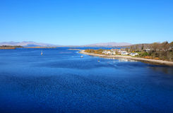 Loch Etive am sonnigen Frühlingstag, Schottland Lizenzfreies Stockbild