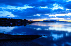 Loch Etive just after sunset, Scotland Royalty Free Stock Image