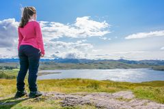 Loch Ewe and Isle of Ewe in Wester Ross, Scotland Stock Image