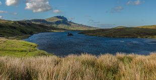 Loch Fada and Old Man Storr , Isle of Skye, Inner Hebrides, Scot. Land, United Kingdom royalty free stock images