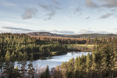 Loch Farr in the Scottish Highlands. Royalty Free Stock Photo