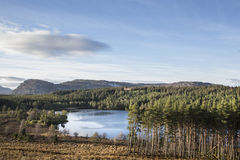 Loch Farr in the Scottish Highlands. Stock Photo