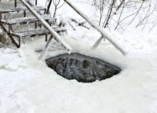 Loch für das Schwimmen Stockfoto