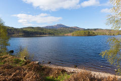Loch Garry Scotland UK beautiful Scottish lake west of Invergarry on the A87 south of Fort Augustus Royalty Free Stock Photo