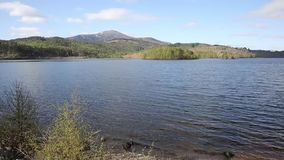 Loch Garry Scotland UK beautiful Scottish lake west of Invergarry on the A87 south of Fort Augustus pan stock footage