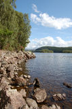 Loch Garry vert. Loch Garry, a beautiful highland loch near Fort William Royalty Free Stock Photos
