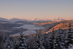 Loch Garry Winter Stock Image