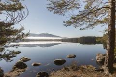 Loch Garten in the Cairngorms National Park of Scotland. stock photo