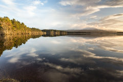 Loch Garten and evening cloud in the Highlands of Scotland. Loch Garten and evening cloud in the Cairngorms National Park of Scotland royalty free stock photos
