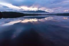 Loch Garten zmierzch zdjęcie stock
