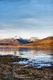 Loch ghiacciato Scozia Fotografia Stock