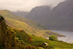 Loch Glendhu and mountains, Assynt, Scotland stock image