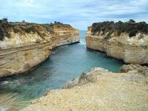 Loch and Gorge. Great Ocean Road along the coastline of southeast Australia Stock Image