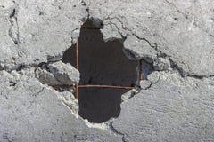 Loch im Betonrohr Stockbilder