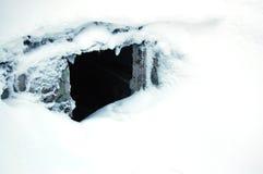 Loch im Boden Stockfotografie