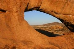 Loch im Felsen Stockbild