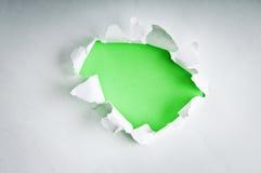 Loch im Papier Lizenzfreies Stockfoto