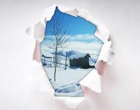 Loch im Papier Stockbilder