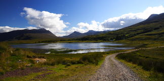 Loch In The Highlands And Rural Path Stock Image