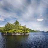 Loch Katrine en Factoreneiland Stock Fotografie