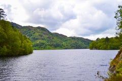 Loch Katrine Katrine jezioro w średniogórzach, Szkocja Piękny los angeles Zdjęcie Stock