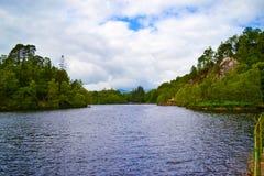 Loch Katrine Katrine jezioro w Szkockich średniogórzach piękny lak Obraz Stock