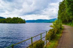Loch Katrine Katrine Lake in Highlands, Scotland. Beautiful la royalty free stock photos