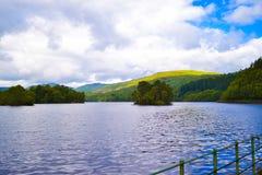 Loch Katrine Katrine Lake in Highlands, Scotland. Beautiful la royalty free stock image