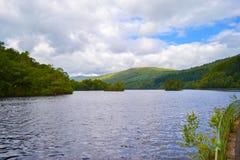 Loch Katrine Katrine Lake in Highlands, Scotland. Beautiful la royalty free stock photography