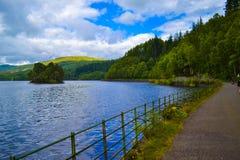 Loch Katrine Katrine Lake in Scottish Highlands. Beautiful lak stock photos