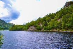 Loch Katrine Katrine Lake in Scottish Highlands. Beautiful lak stock image