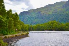 Loch Katrine Katrine Lake in Scottish Highlands. Beautiful lak royalty free stock photos