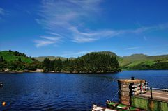 Loch Katrine from Stronachlachar Jetty. Royalty Free Stock Images