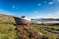 Loch Leosavay na wyspie Harris zdjęcie royalty free