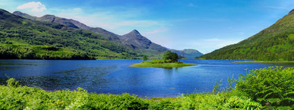 Loch Leven fotografia de stock