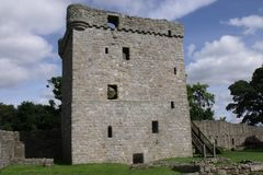 Loch Leven Castle stock photography