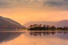 Loch Leven no por do sol Glencoe, Scotland fotografia de stock