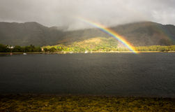 Loch Leven Rainbow Royalty Free Stock Photo