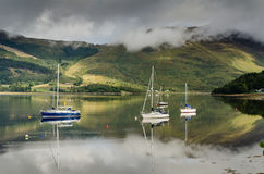 Loch Leven sailboats Stock Photos