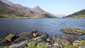 Loch Leven Scottish lake west coast of Scotland in Scottish Highlands west of Kinlochleven and just off B863 stock video