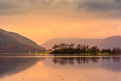 Loch Leven at sunset. Glencoe, Scotland stock photography