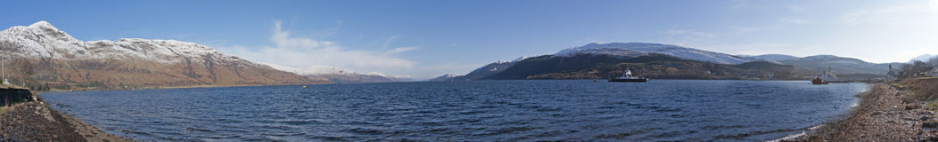 Loch Linnhe lizenzfreies stockbild