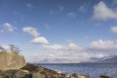 Loch Linnhe in Argyll, Scotland. Loch Linnhe at Argyll in the Highlands of Scotland stock image